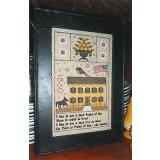 Lincoln Home 1860 Sampler - Stickvorlage Chessie & Me