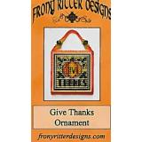 Stickvorlage Frony Ritter Designs Give Thanks Ornament