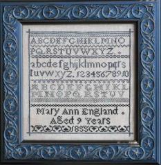 Mary Ann England - Stickvorlage La D Da