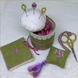 Cherry Blossom Pincushion Sewiing Set - Stickvorlage MTV Designs