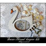Nikyscreations Stickpackung Kreuzstich Swan Thread Keeper Kit