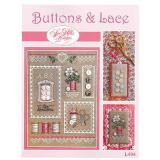 Sue Hillis Stickvorlage Buttons & Lace