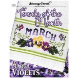 Towels Of The Month - March - Kreuzstichvorlage Stoney Creek
