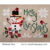 Merry Christmas - Kreuzstichvorlage Barbara Ana Designs