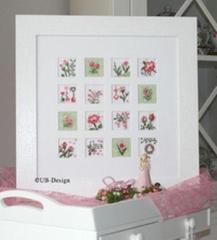UB-Design Ulrike Blotzheim Stickvorlage Blumeninchies ROSÉ