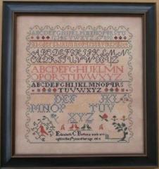 Elizabeth Borton 1834 - Kreuzstichvorlage Queenstown Sampler Designs
