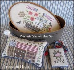Patriotic Shaker Box Set - Stickvorlage The Scarlett House
