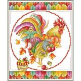 November Rooster - Kreuzstichvorlage Vickery Collection