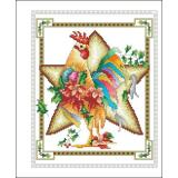 December Rooster - Kreuzstichvorlage Vickery Collection