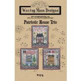 Patriotic House Trio - Stickvorlage Waxing Moon