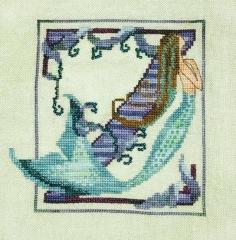 Letters From Mermaids - Buchstabe Z - Stickvorlage Nora Corbett