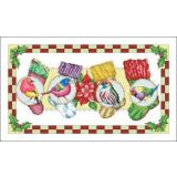 Stickvorlage Vickery Collection  Birds With Stockings