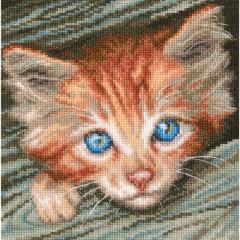Katze - Stickpackung Kreuzstich RTO mit Aida