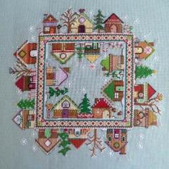 Gingerbread Village - Stickvorlage CM Designs