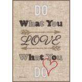 Do what you love - Stickpackung Vervaco mit Zählstoff