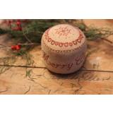 Merry Christmas Pinkeep Drum - Stickvorlage Stacy Nash Primitives