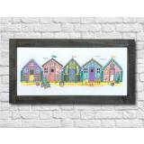 Little Beach Huts - Stickvorlage Tiny Modernist Inc