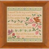 Elizabeths Designs Stickvorlage Brown Bird Sampler