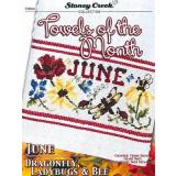 Towels Of The Month - June - Kreuzstichvorlage Stoney Creek