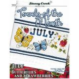Towels Of The Month - July - Kreuzstichvorlage Stoney Creek