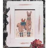Stickvorlage Designs by Lisa Hen And Her Llama