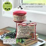 Where Liberty Dwells (includes velveteen) - Stickvorlage Hands On Design
