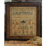 Stickvorlage Threadwork Primitives 1842 Saw Sampler