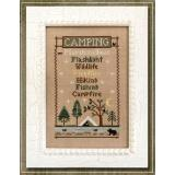 Country Cottage Needleworks Stickvorlage Camping Trip