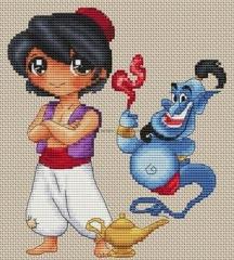 Les Petites Croix De Lucie Stickvorlage Aladin Et La Lampe Magique
