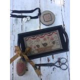 Berry Basket Sewing Tray, PinDisk & Strawberry Pinkeep - Stickvorlage Stacy Nash Primitives