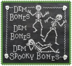 Dem Bones - Stickvorlage Waxing Moon