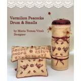 Vermilion Peacoks Drum & Small - Stickvorlage MTV Designs