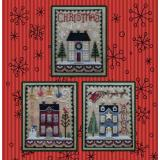 Waxing Moon Designs Stickvorlage Christmas House Trio