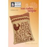 Tom Turkey Sampler (W/emb) - Kreuzstichvorlage Heart In Hand