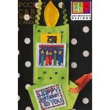 Amy Bruecken Stickvorlage Pocket Card Birthday Candles