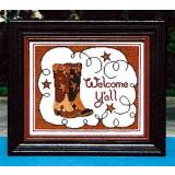 Annalee Waite Designs Stickvorlage Welcome Yall mit Button
