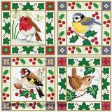 Christmas Bird Cards - Stickvorlage Lesley Teare