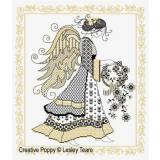 Blackwork Angel - Stickvorlage Lesley Teare