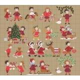 Perrette Samouiloff Stickvorlage Happy Childhood Collection Christmas