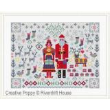 Santa & Mrs Claus Folkies - Stickvorlage Riverdrift House