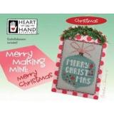 Merry Making Mini (w/embellishments) - Merry Christmas - Kreuzstichvorlage Heart In Hand