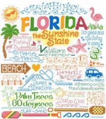 Lets Visit Florida - Kreuzstichvorlage Imaginating
