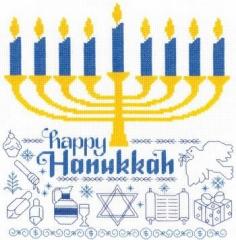 Lets Celebrate Hanukkah - Kreuzstichvorlage Imaginating