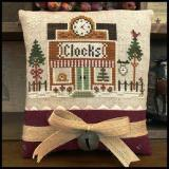 Hometown Holiday - Clockmaker - Stickvorlage Little House Needleworks