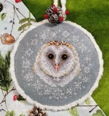 Winter Snow Owl - Stickvorlage Blackberry Lane