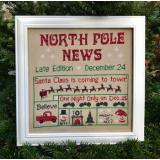 North Pole News - Stickvorlage Pickle Barrel
