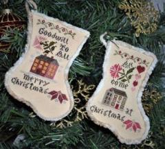 Abby Rose Designs Stickvorlage Sampler Stockings 2018