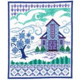 Barn With Winter Quilts - Stickvorlage Imaginating