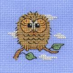 Stickpackung Mouseloft Baby Owl Ø 6