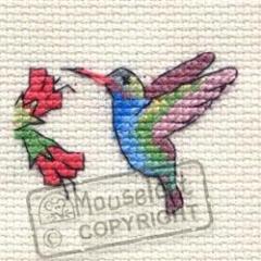 Hummingbird - Stickpackung Mouseloft mit Aida